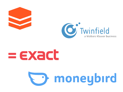 Exporteren naar Exact, Twinfield & Moneybird Administratie software